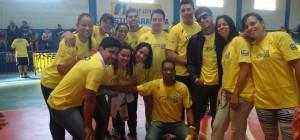 Misto de atletas do Voleibol Masculino e Femino