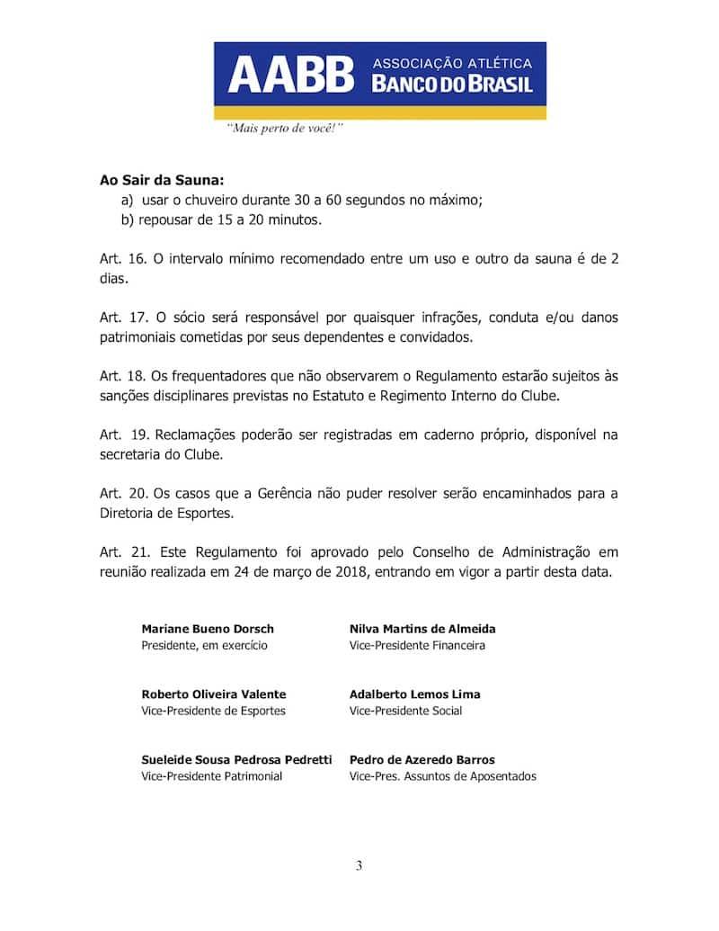 REGULAMENTO DA SAUNA AABB JATAÍ - 3